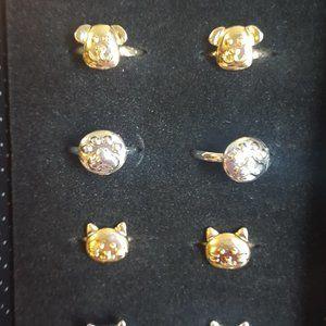 Pack of 10 Little girl Adjustable Rings J-645